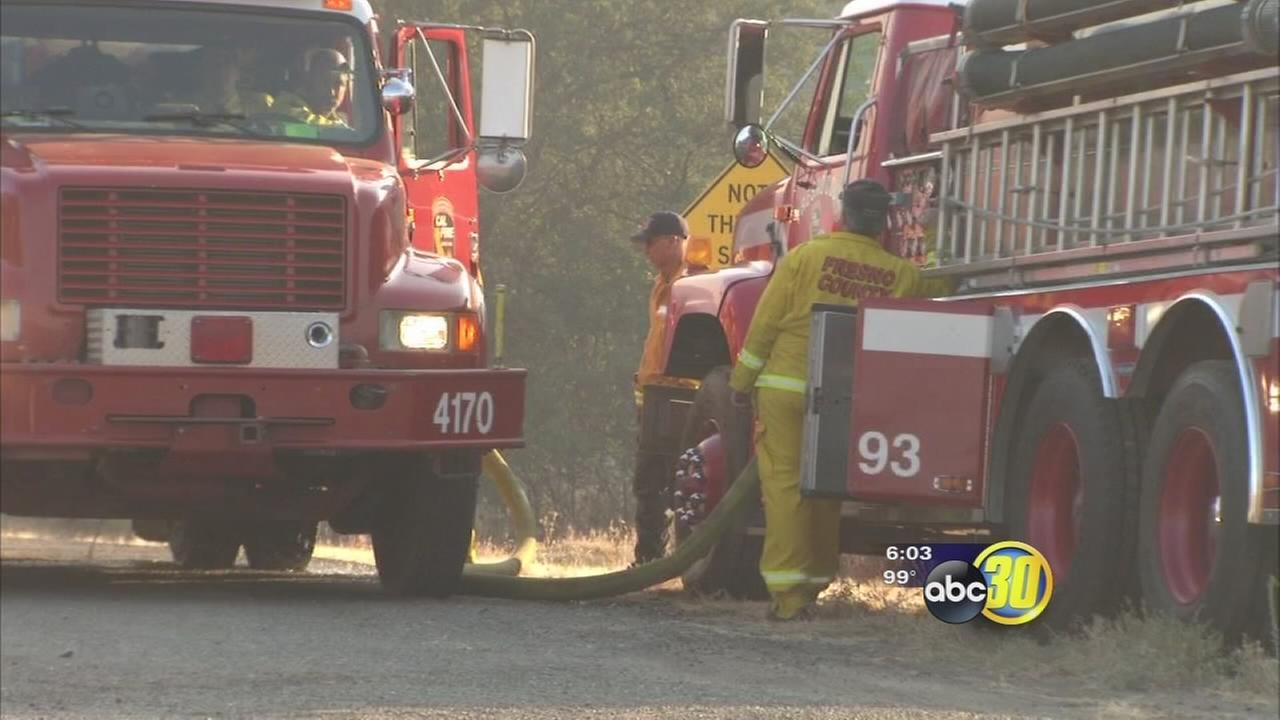 Local crews working around the clock to battle wildfires across California