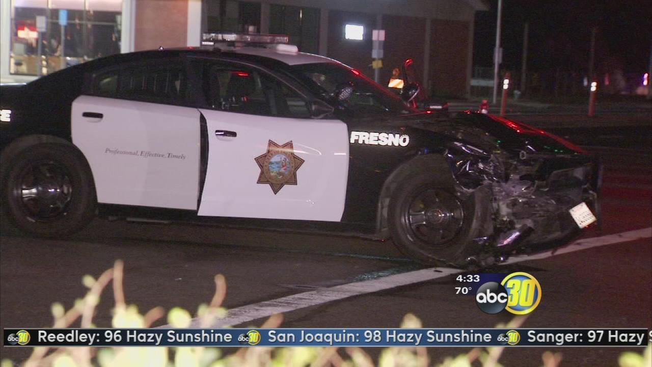 2 police officers involved in north Fresno crash