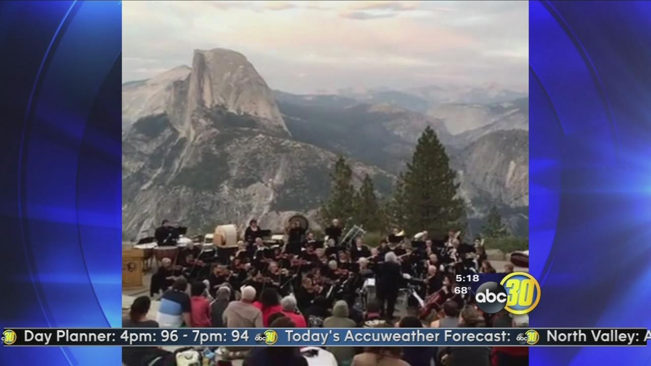 Mariposa Symphony Orchestra performs at Yosemite National Park