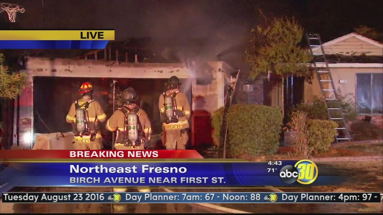 House fire in Northeast Fresno causes major damage