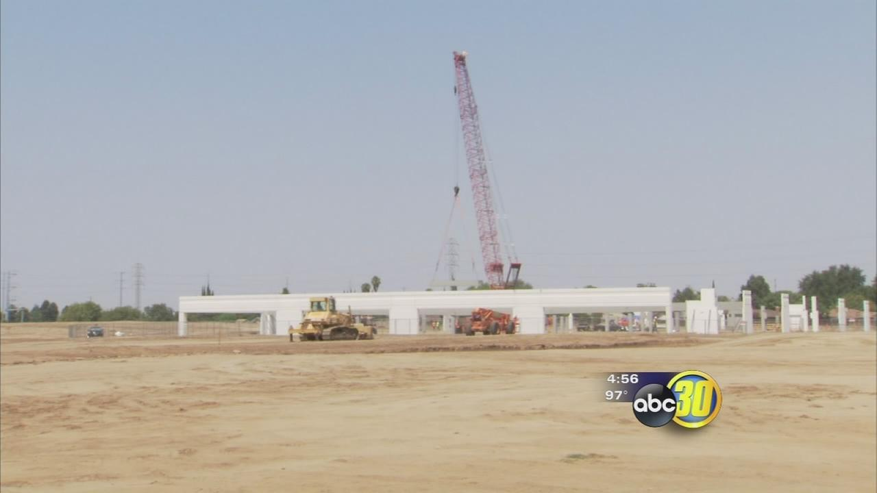 Signs of construction on Southeast Fresno shopping center