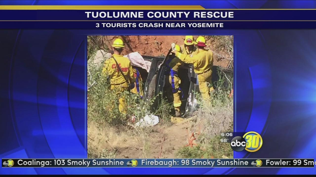 3 rescued after crews unable to locate crash for hours
