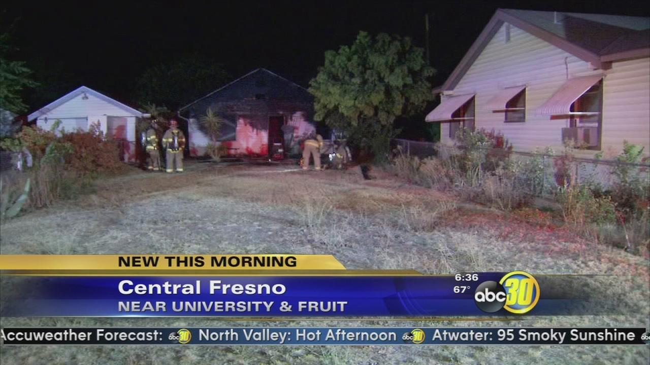 Man displaced after house fire in Central Fresno