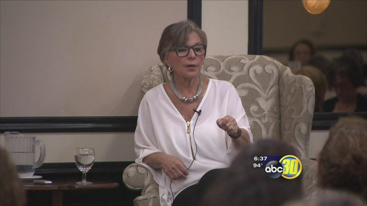 Senator Barbara Boxer spoke to crowd at Fresno luncheon, urging more women into politics