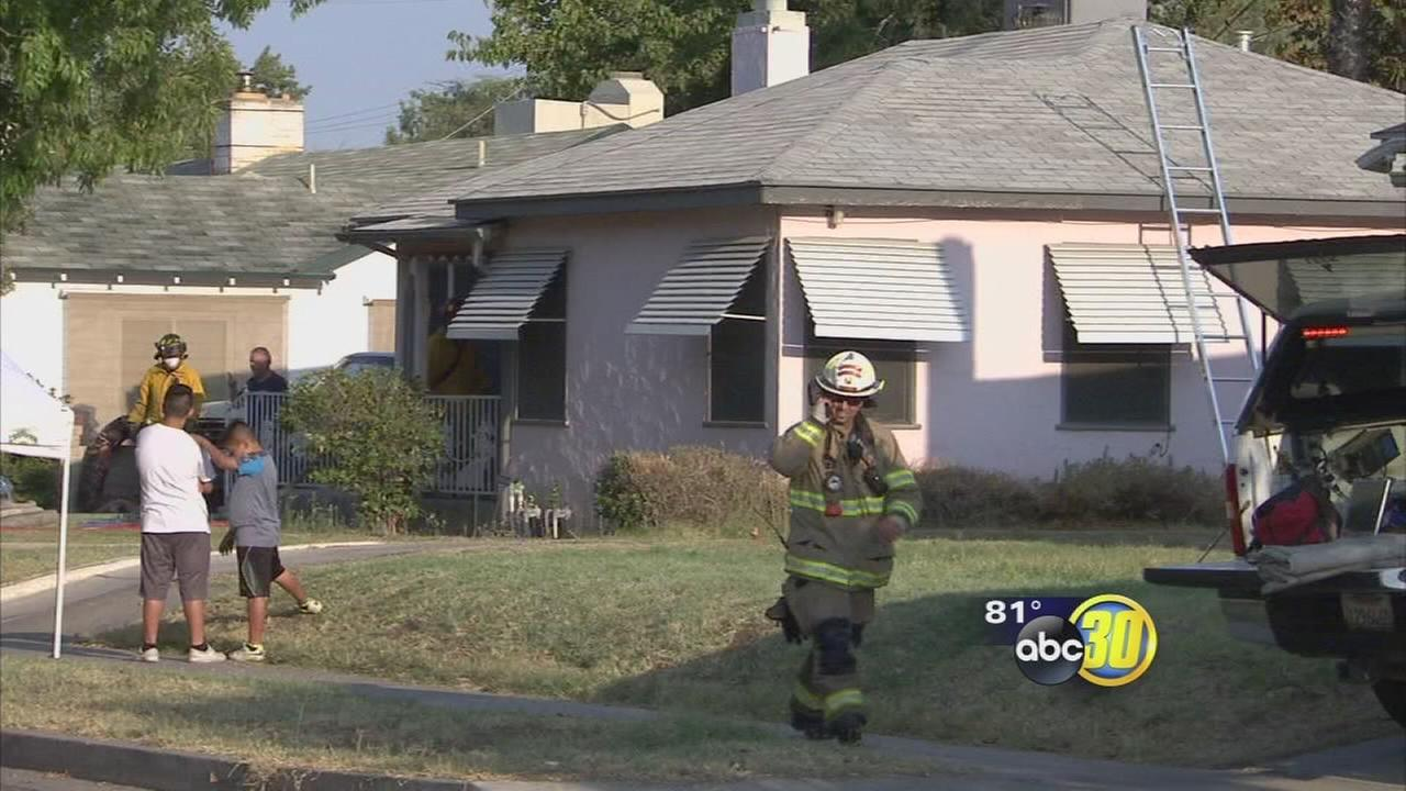 Explosions that led to a house fire shake Central Fresno neighborhood