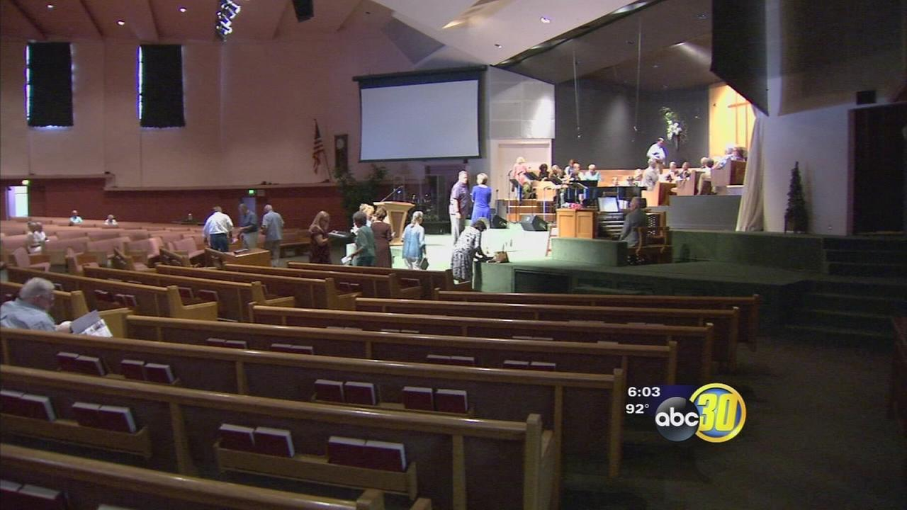Service continues at Reedley church despite arson fire