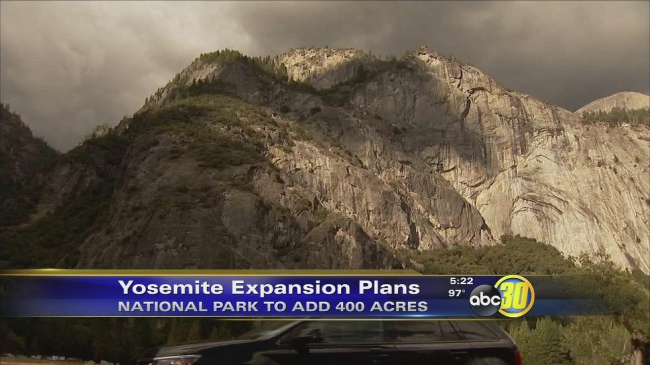 Yosemite National Park to add 400 acres to park, largest expansion in 70 years