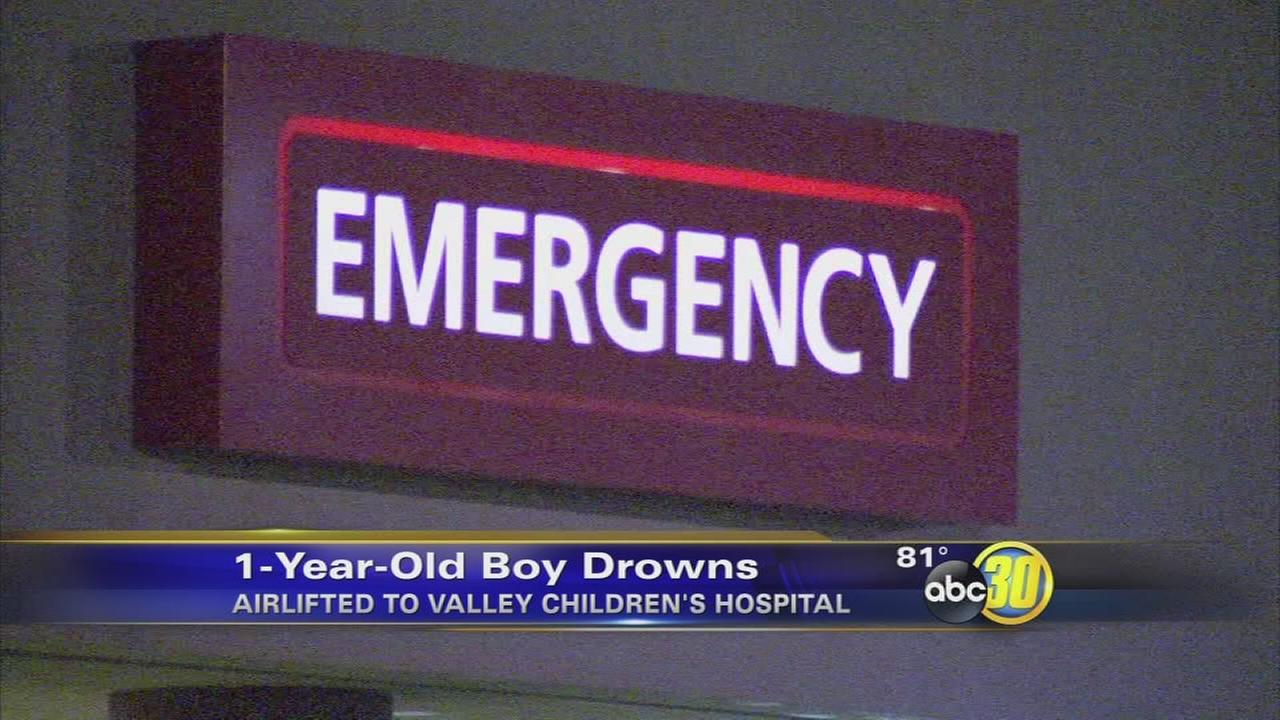 1-year-old drowns in pool in Fresno County