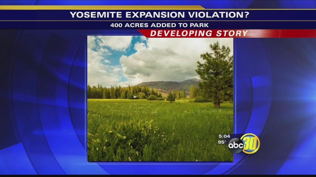 Lawmaker says Yosemite addition violates US law
