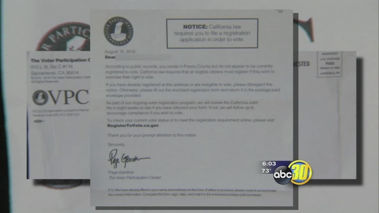 Mailer being sent out to California voters causing confusion in voter registration
