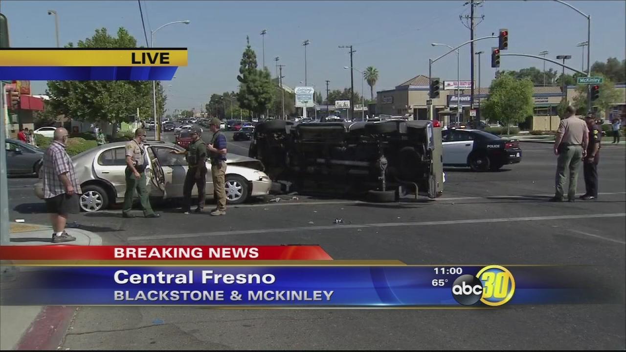 Major intersection closed near FCC after a pursuit, crash