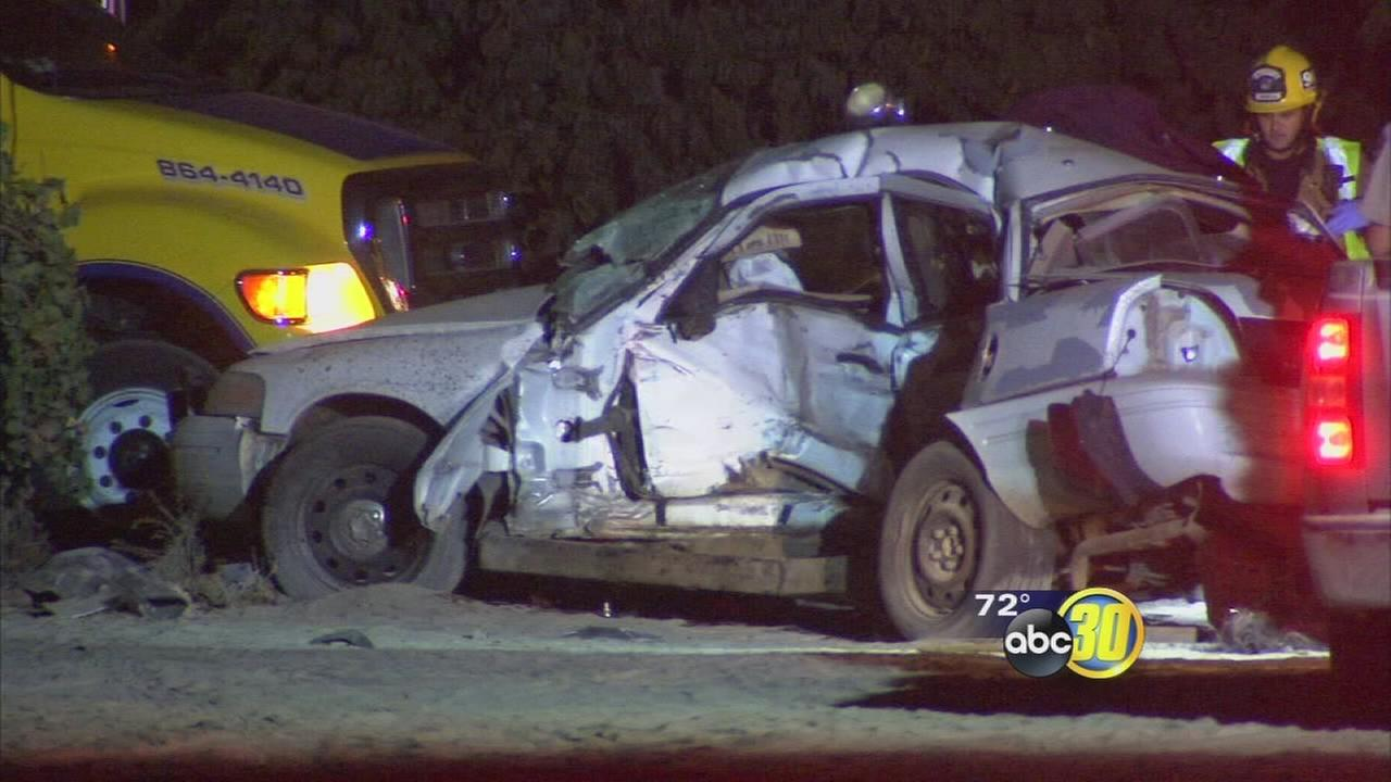 One person is dead and another injured after a crash outside of Caruthers