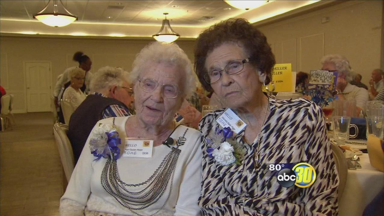 2 from the class of 1938 meet up at Tranquility High School reunion