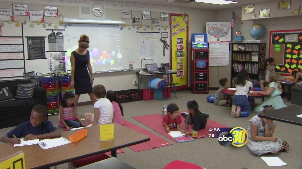 Central Unified school tries out deskless classroom for students