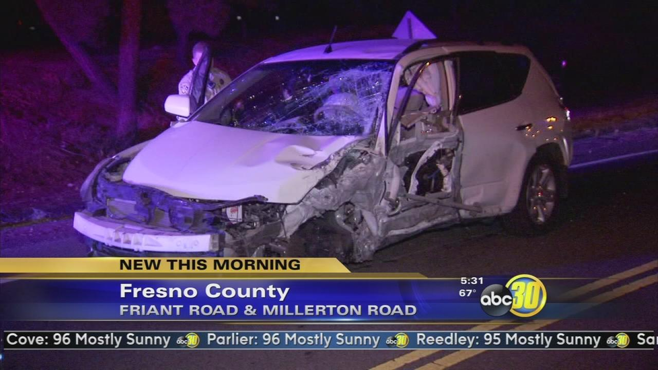3 injured in head-on crash in Friant