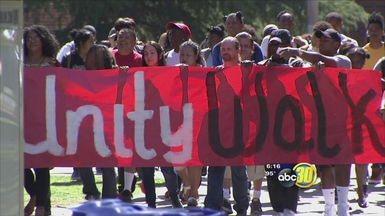 Fresno City College students bridged the past with what they expect will be a bright future