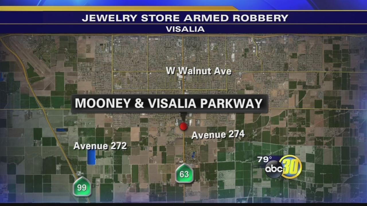 Police looking for 3 men involved in Visalia jewelry store robbery