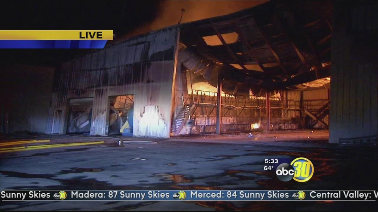Large fire causes millions in damage at a packing shed north of Hanford