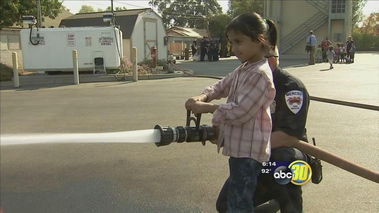 Merced elementary students got to learn what it is like to be a Fire Fighter