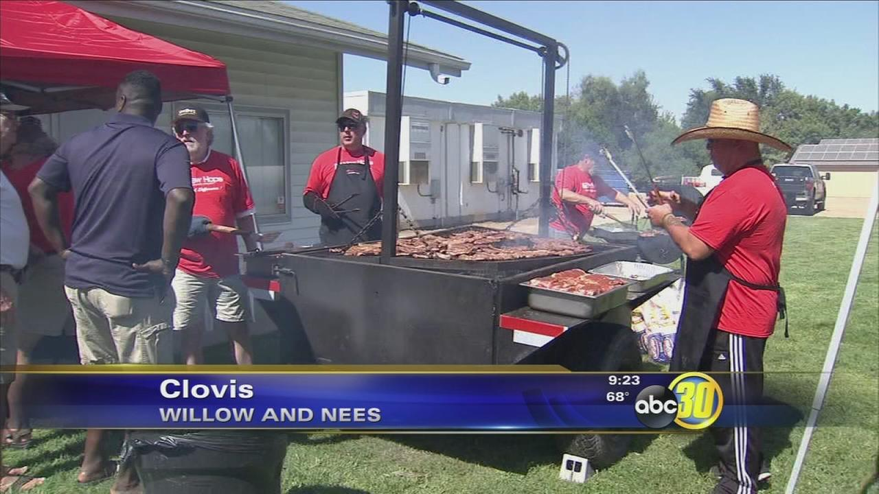 Clovis church hosts barbecue fundraiser for injured correctional officers
