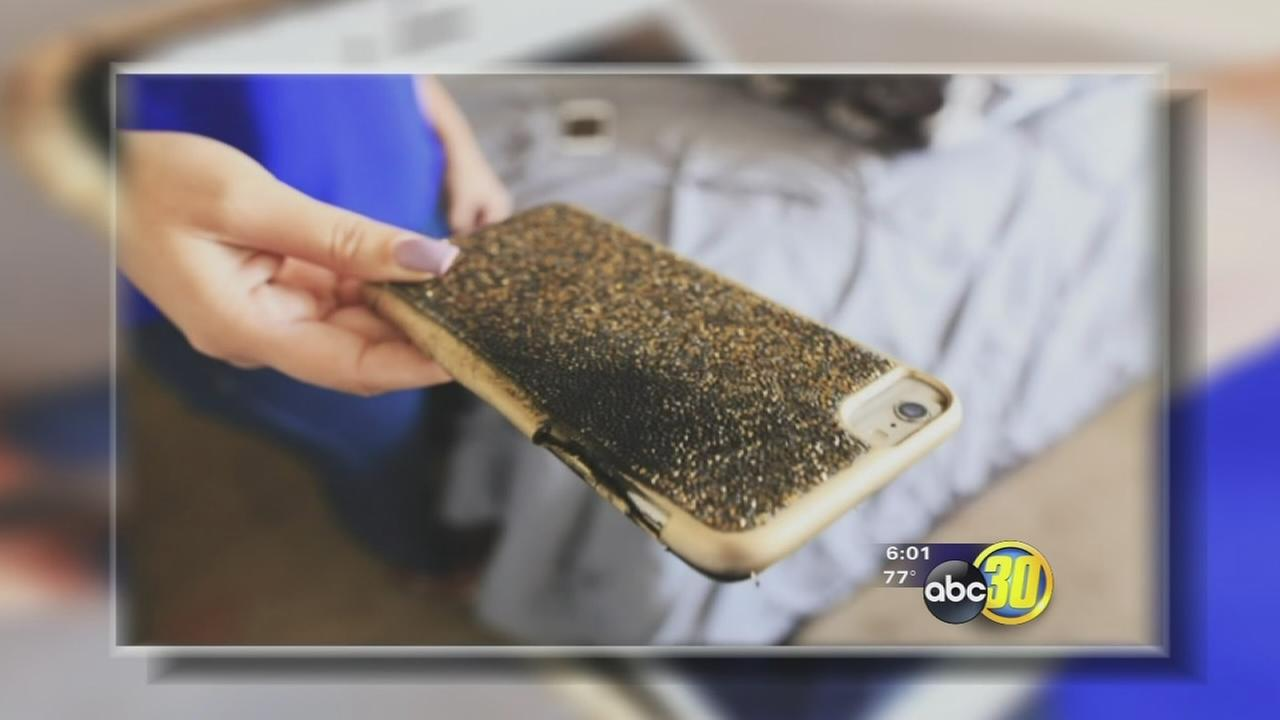 Fresno woman says her iPhone exploded and caught on fire in her bedroom