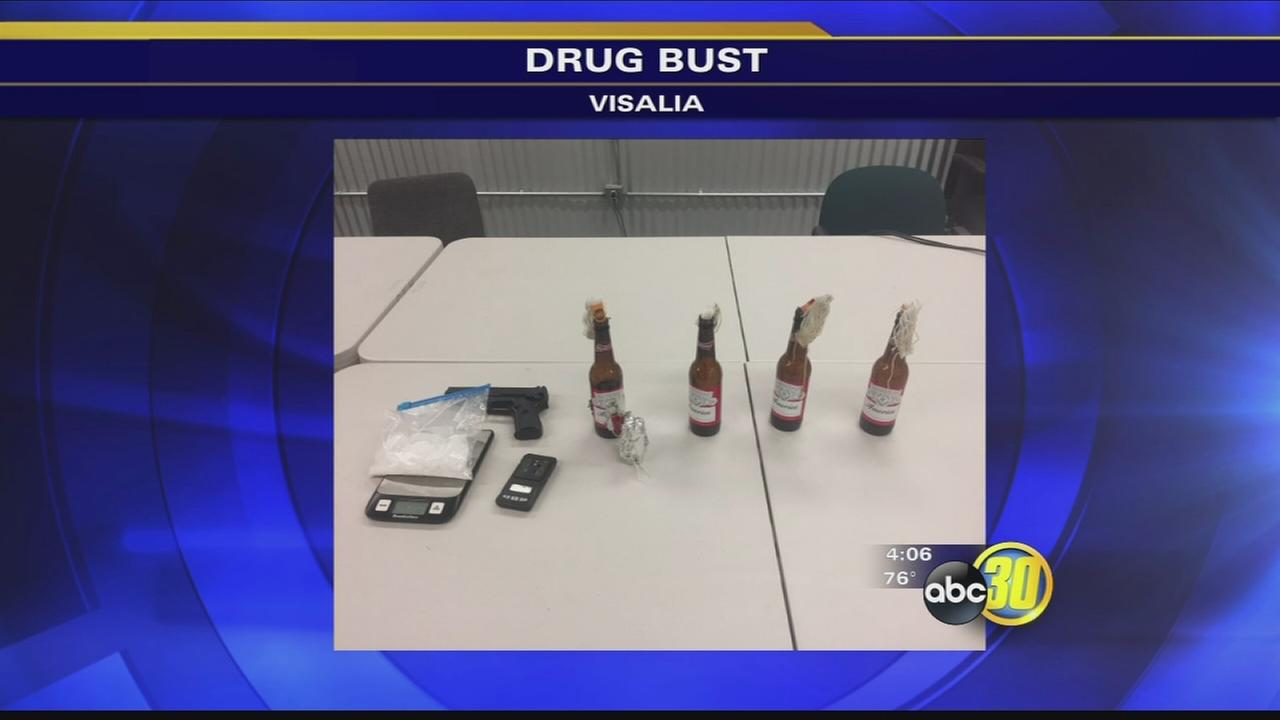 METH, MOLOTOV COCKTAILS FOUND AFTER SUSPECT FLEES VISALIA PD