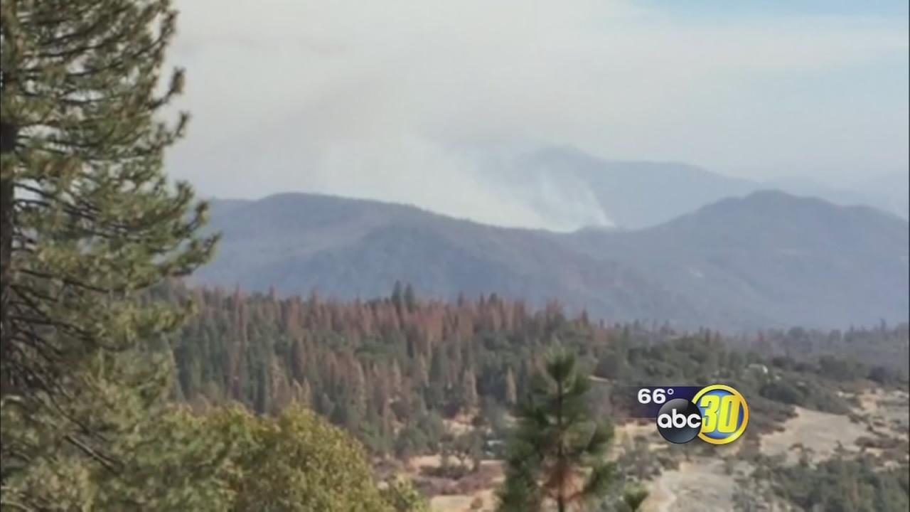 Crews battle wildfire near Pine Flat Lake