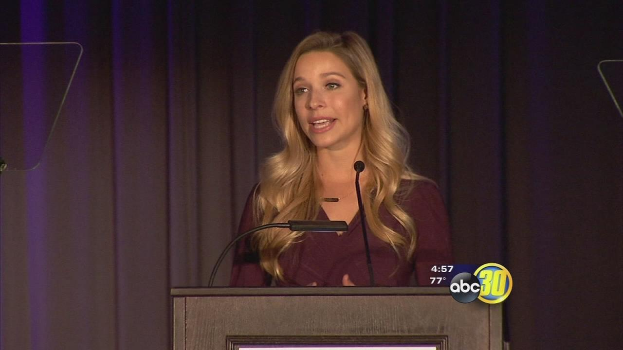 Former Miss America shares story of abuse at Marjaree Mason Center award ceremony