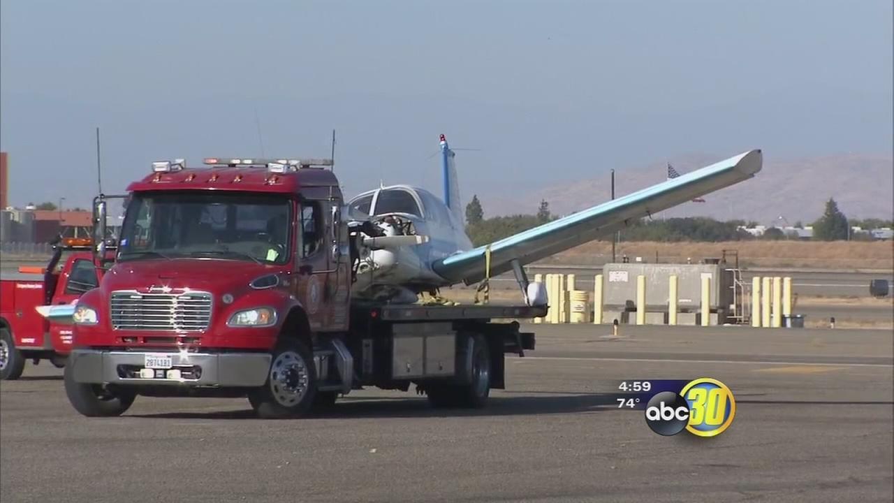 Pilot injured in small plane crash at Fresno Yosemite International Airport