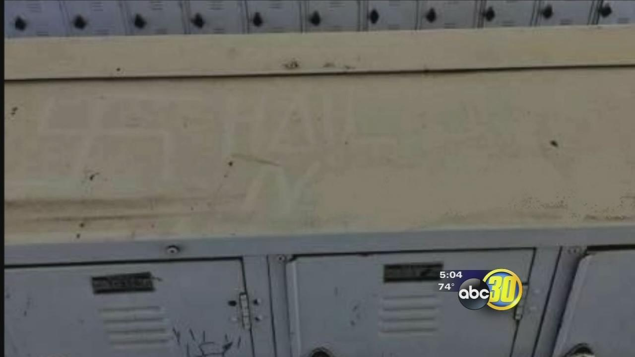 Administrators at Clovis High on alert after racially charged graffiti found on campus for second time