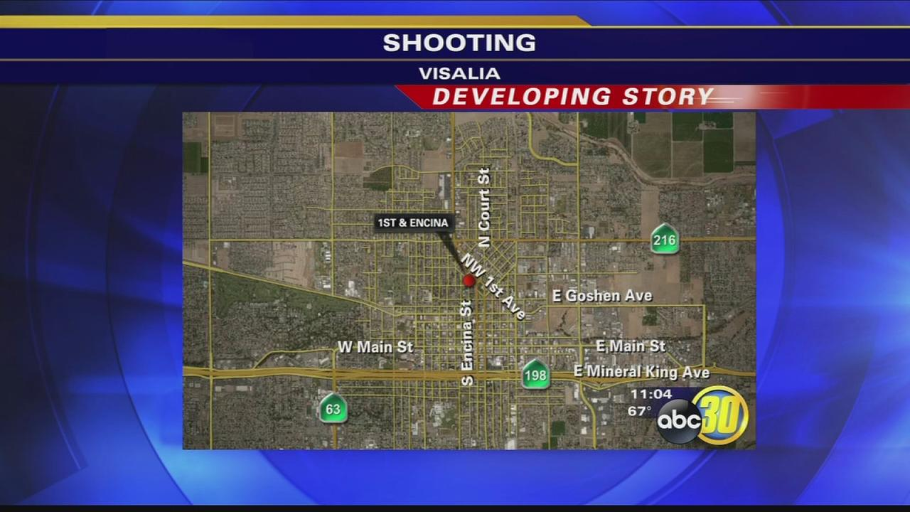Visalia man shot twice in the leg