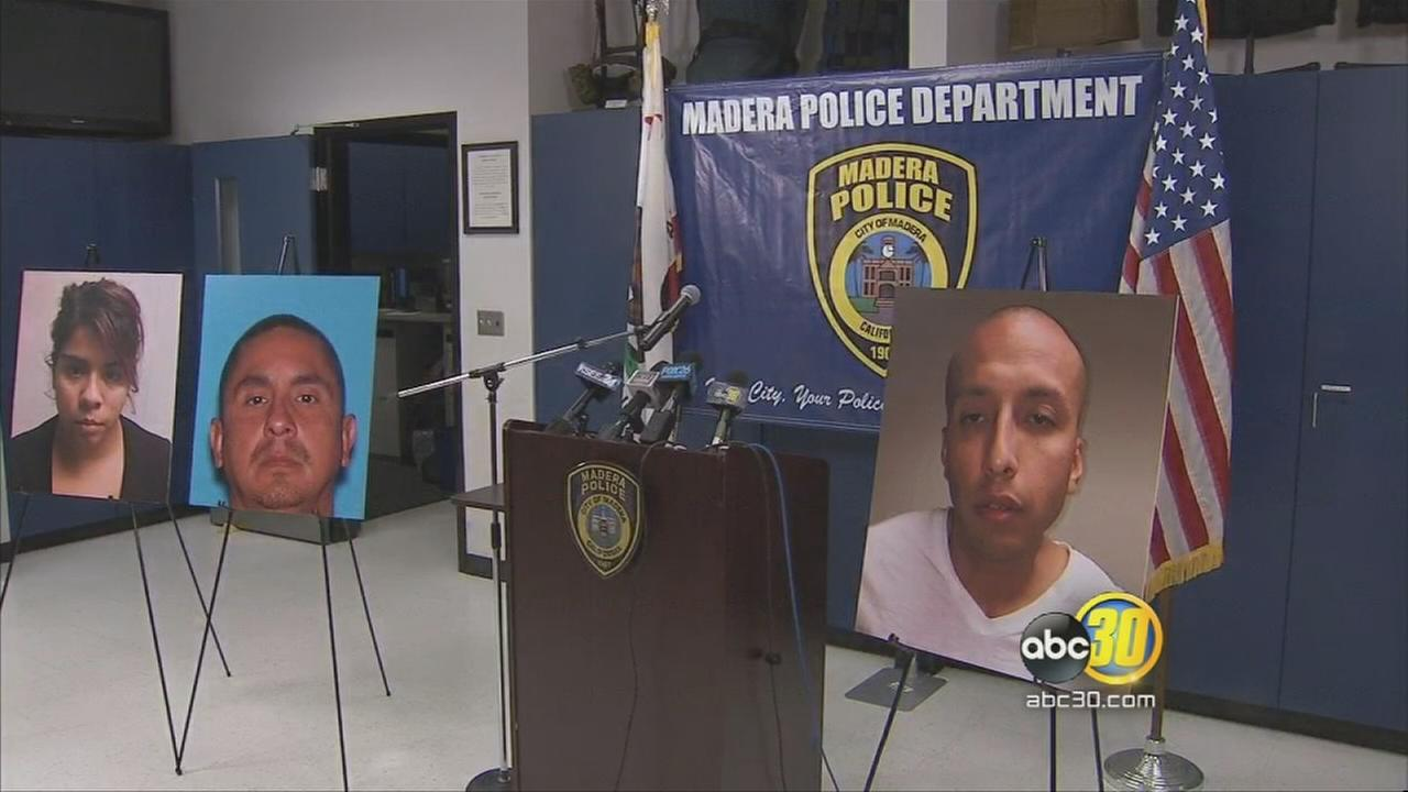 2 arrested, 1 at large in Madera shooting caught in dash cam