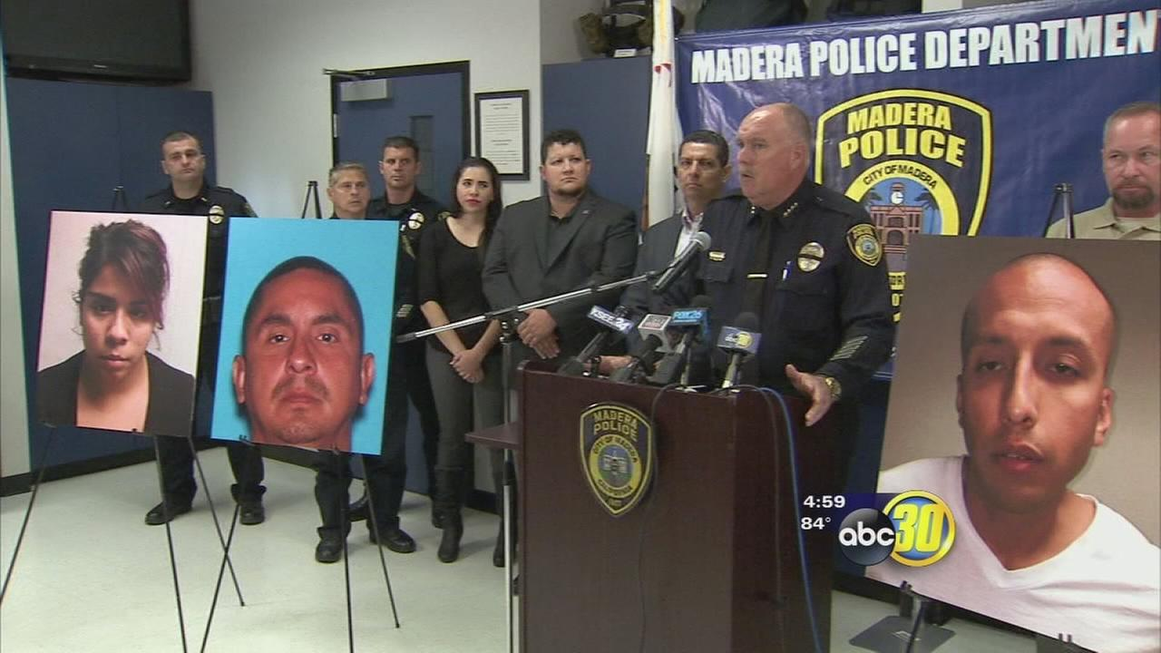 2 arrested, 1 at large in Madera shooting caught on dash cam