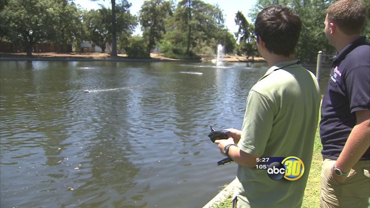 Remote control boat races take over Roeding Park