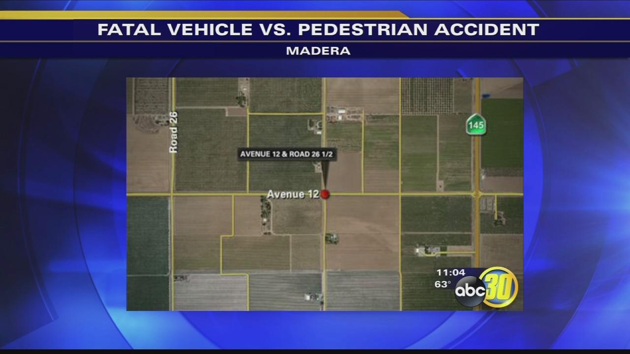 Man killed by car in Madera