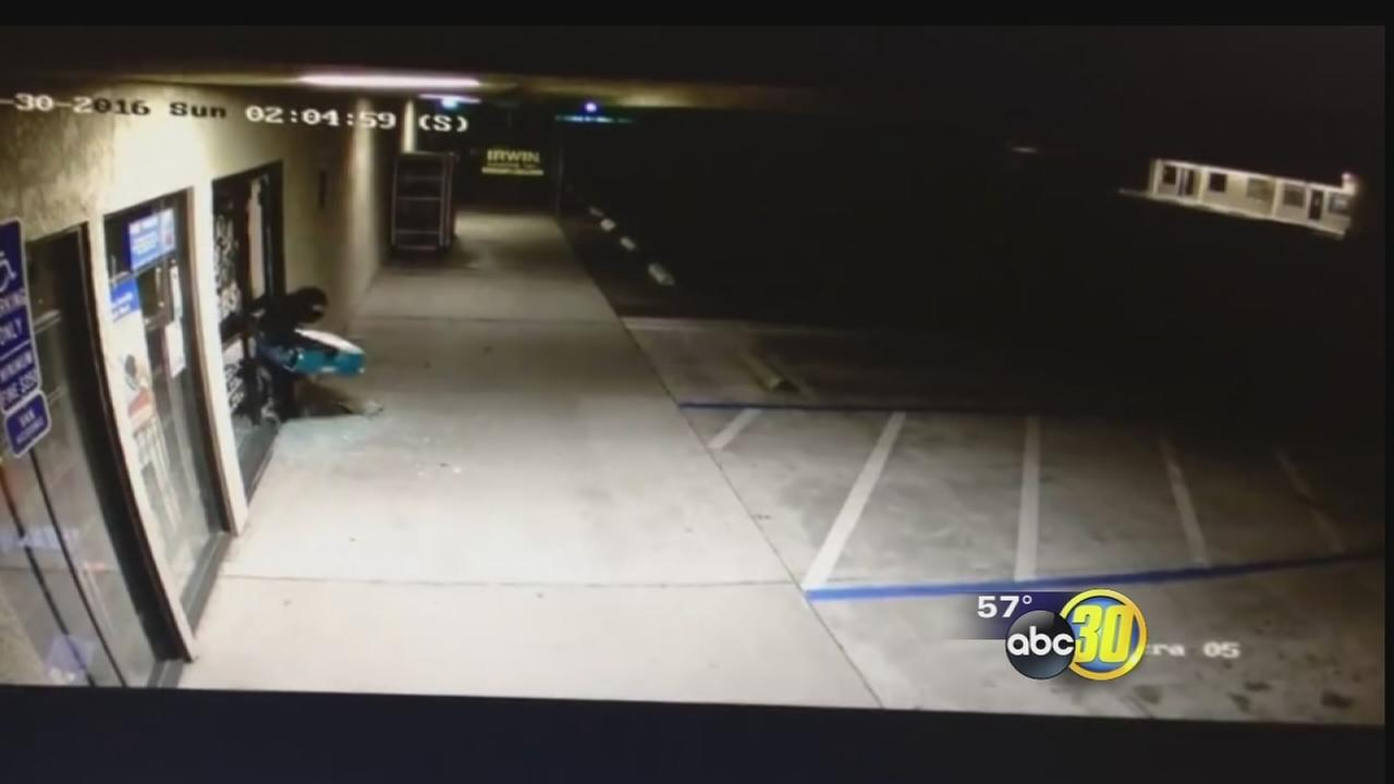 Madera police looking for man involved in several store burglaries