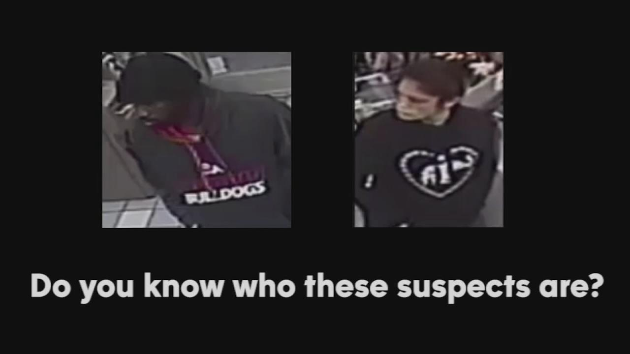 Fresno Police search for 2 robbery suspects