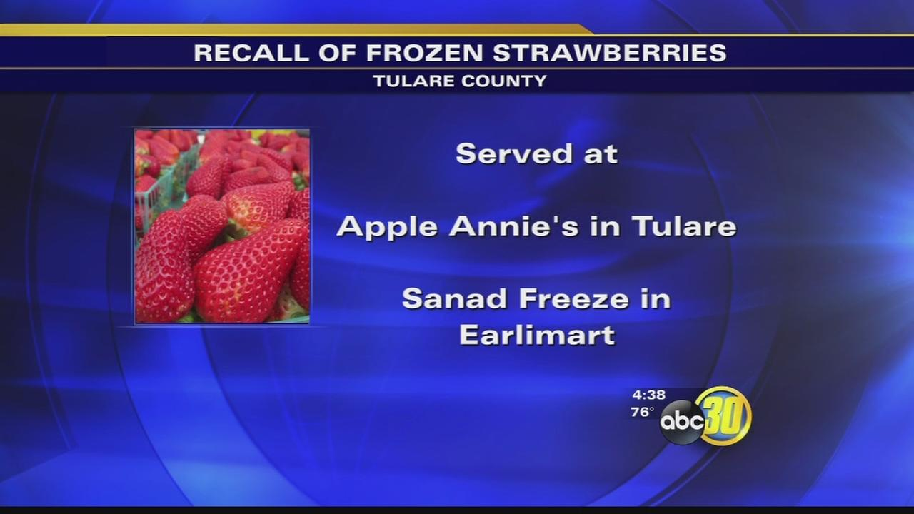 Frozen strawberries recalled for being contaminated with Hepatitis-A in Tulare county