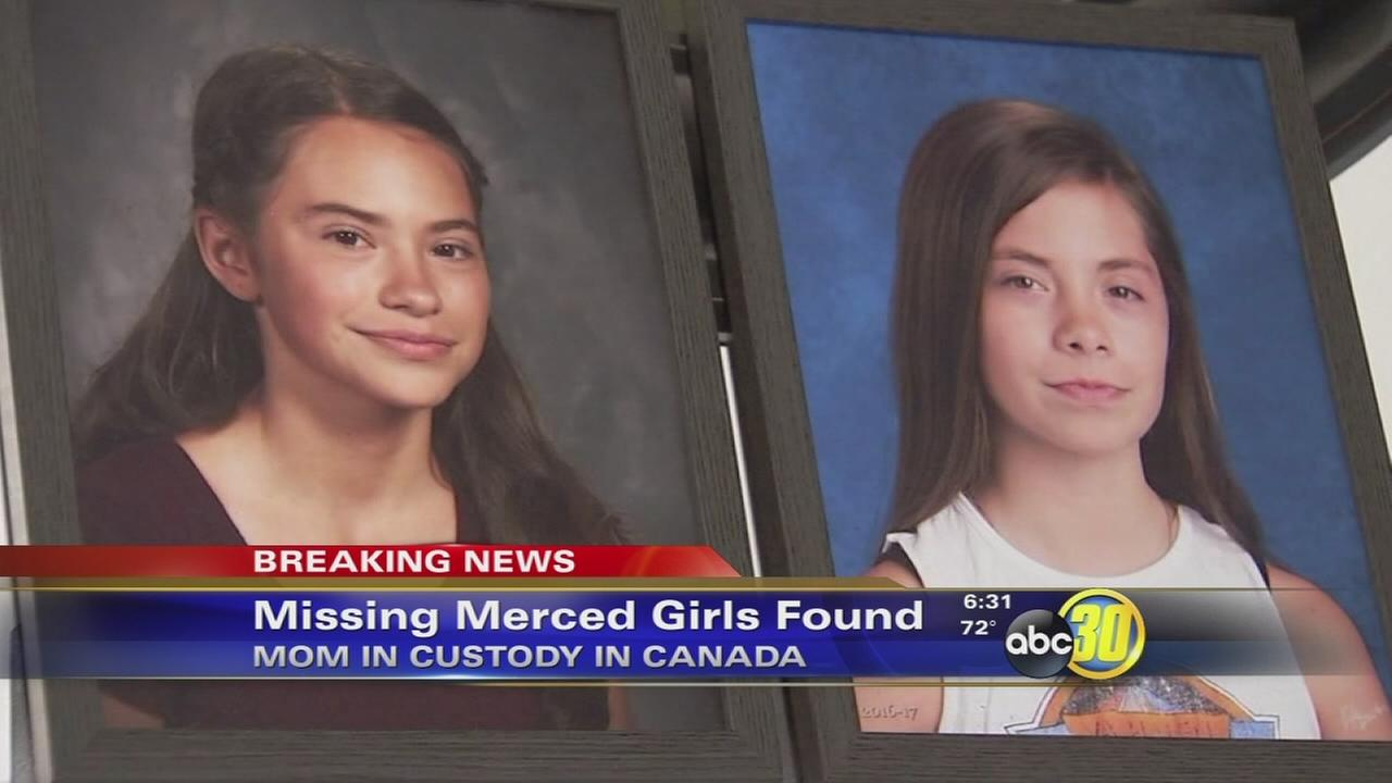 Missing Merced girls safely located