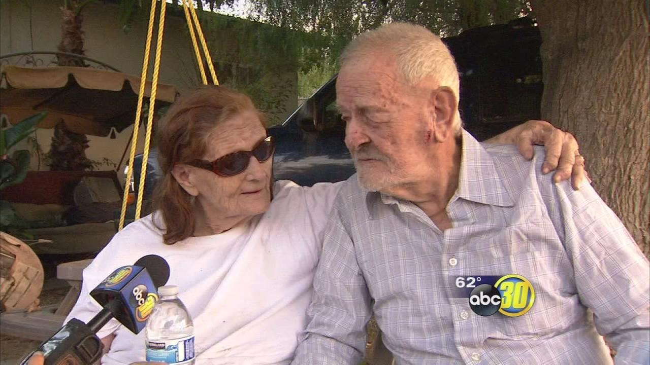Elderly couple rescued from burning Madera home