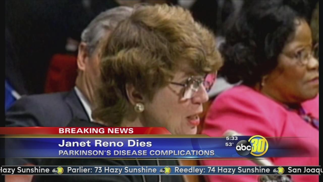 Former US attorney general Janet Reno has died