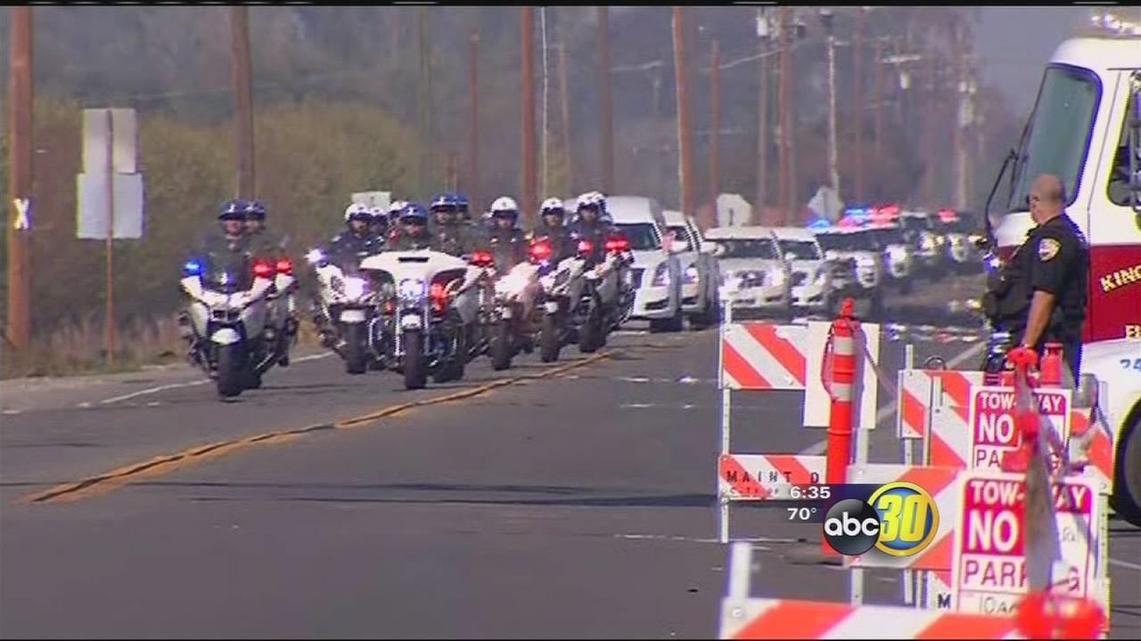 Fallen Fresno County Sheriff?s Sgt. laid to rest in Lemoore following long procession on HWY 41