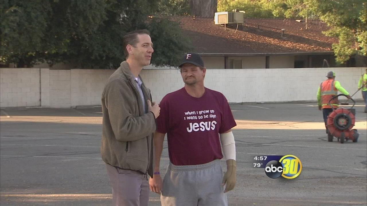 Community rallies behind construction worker hurt while fixing Fresno church