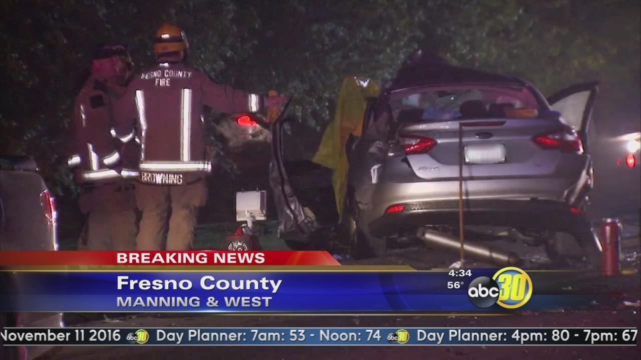 1 dead, 1 injured in Fresno County crash