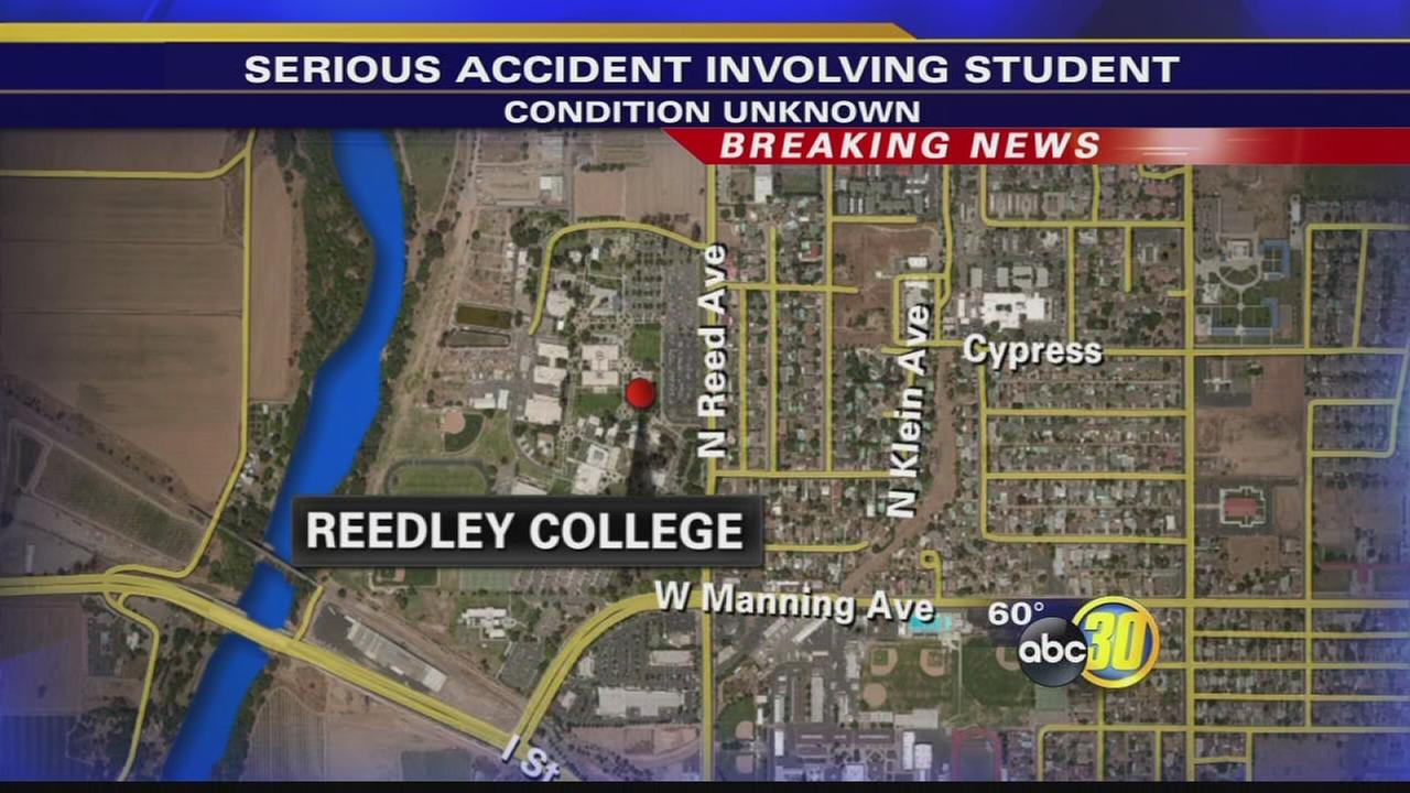Police investigating serious accident involving high school student at Reedley College
