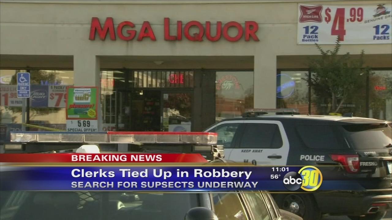 2 clerks handcuffed in Northeast Fresno liquor store robbery