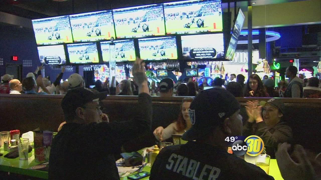 Raider Nation out strong in Fresno during Monday Night Football