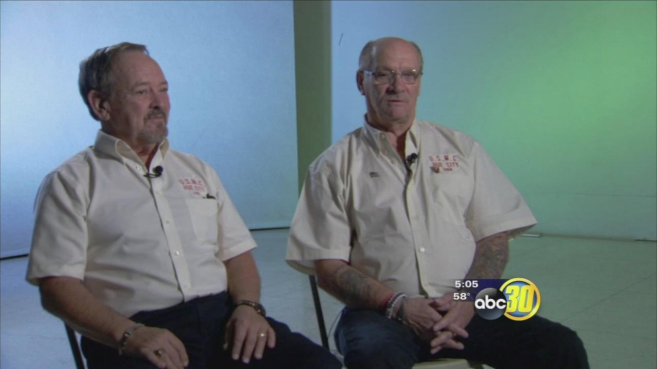 Retired US Marines from iconic photo sees friendship as medicine they both needed