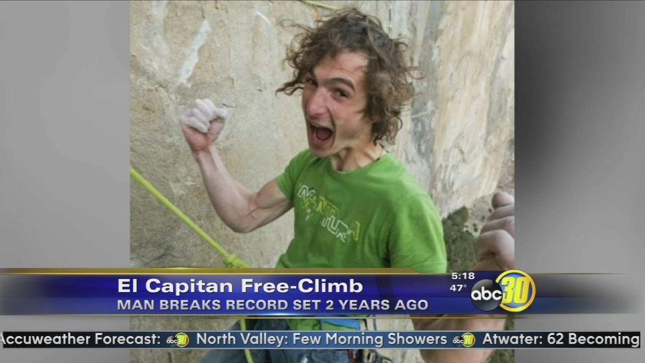 Dawn Wall free climb record shattered by 11 days