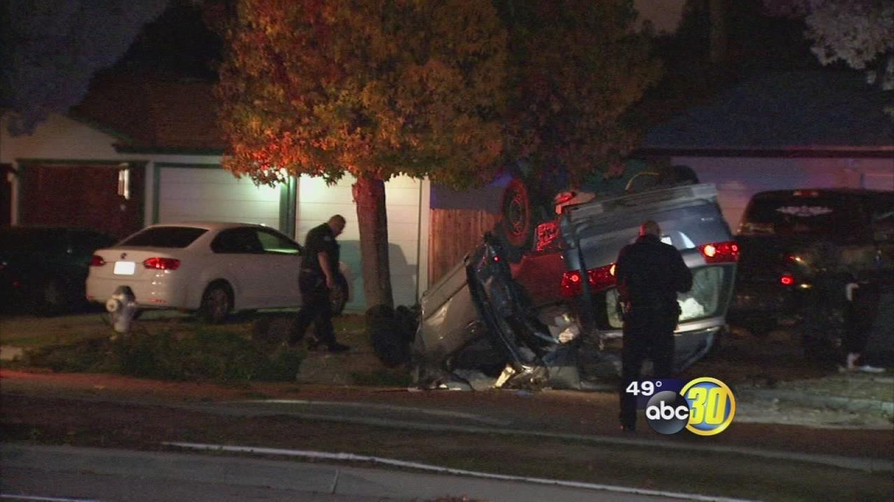 Man dies in east-central Fresno car crash